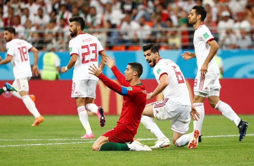 Cristiano Ronaldo mängus Iraaniga