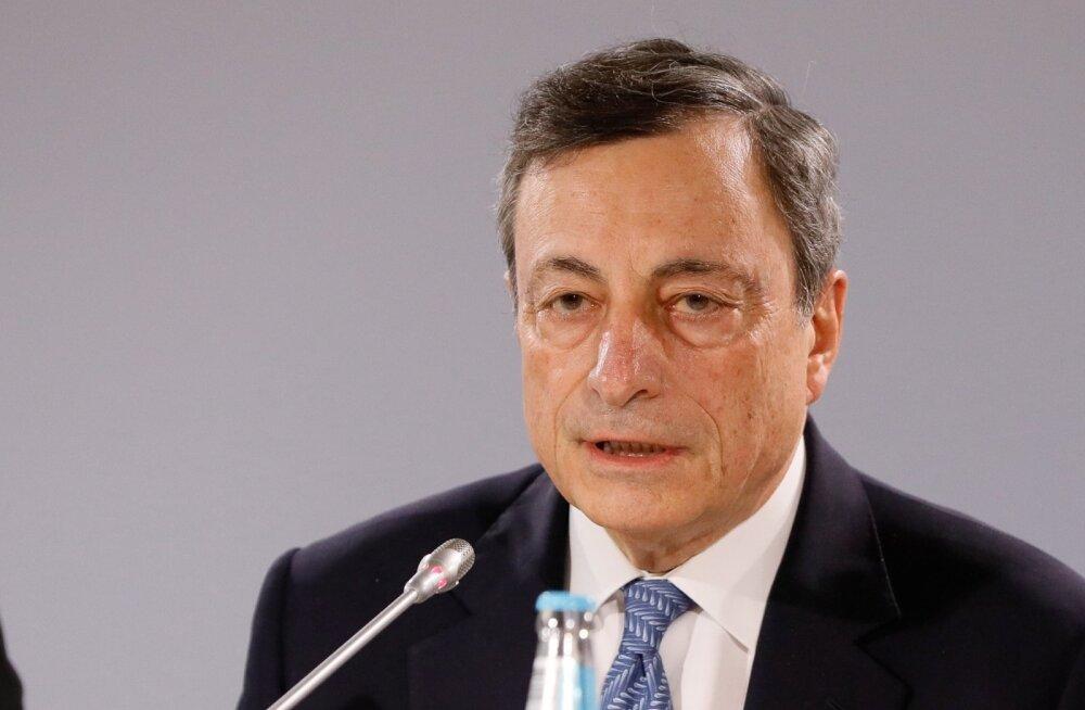 Euroopa Keskpanga juht Mario Draghi pole teiste keskpankade juhtidega võrreldes just kõige tragim rahapoliitika karmistaja, kuid pikad intressid on tõusnud, euro baasintress ja euribor veel mitte.