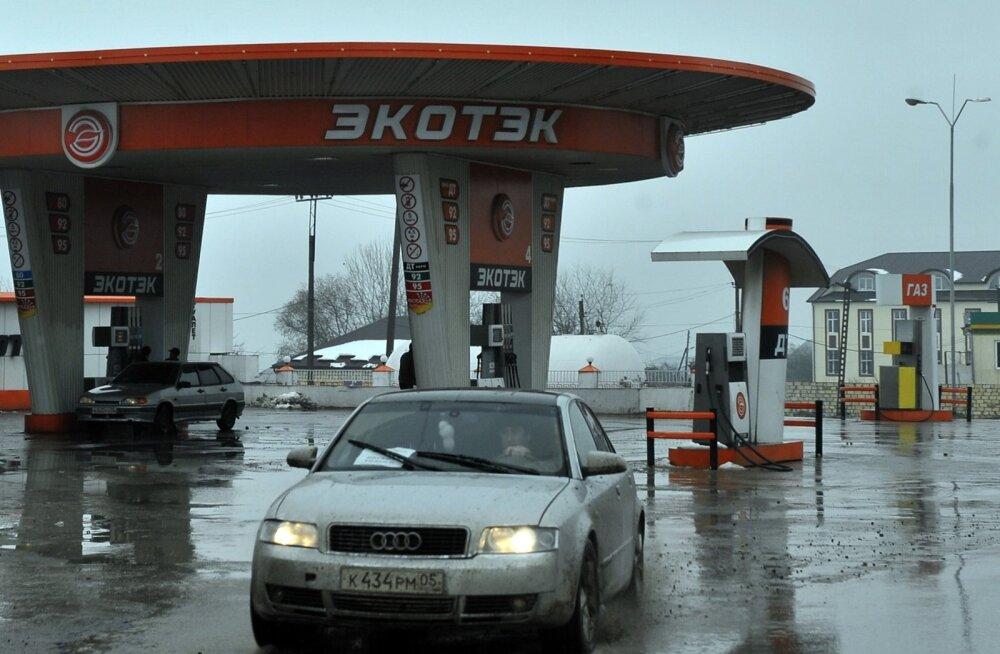 Audi Venemaal bensiinijaamas.