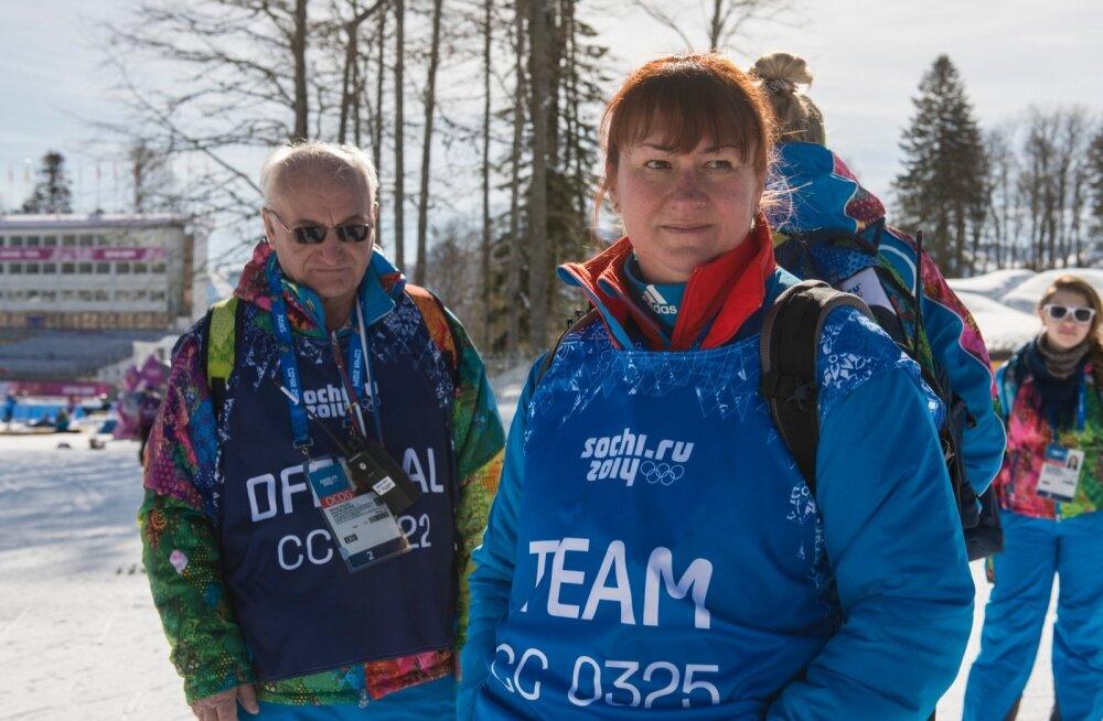 FOTO: Jelena Välbe tuli intervjuule Putini särgis