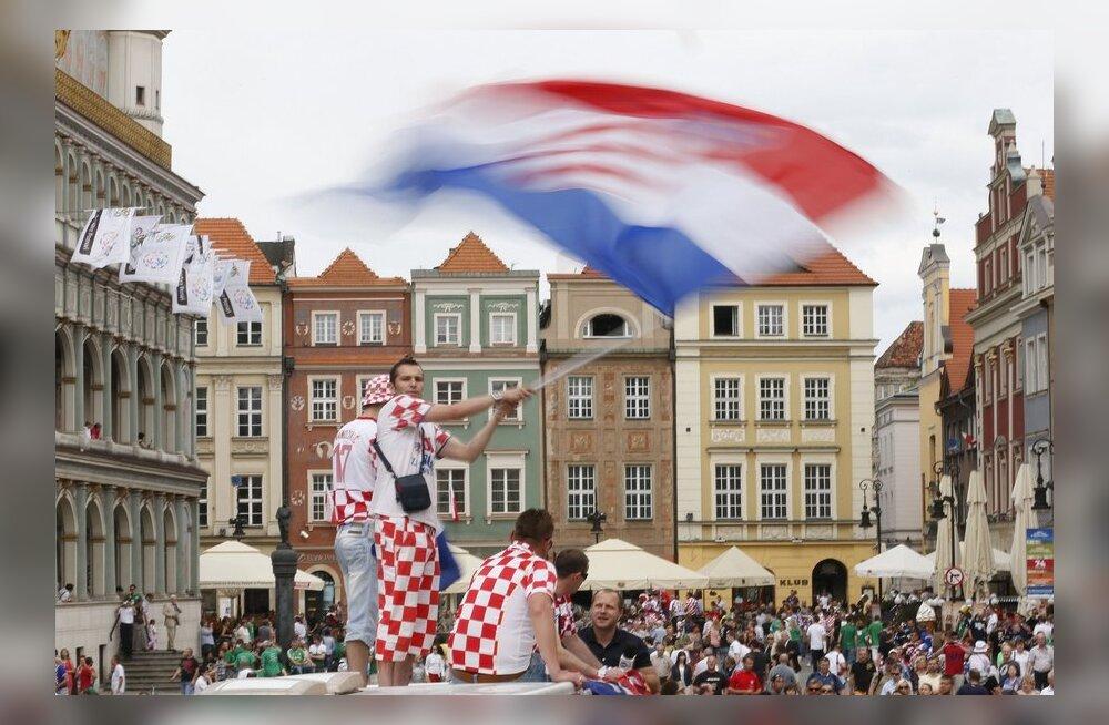 Horvaatia jalgpallifännid Poznanis
