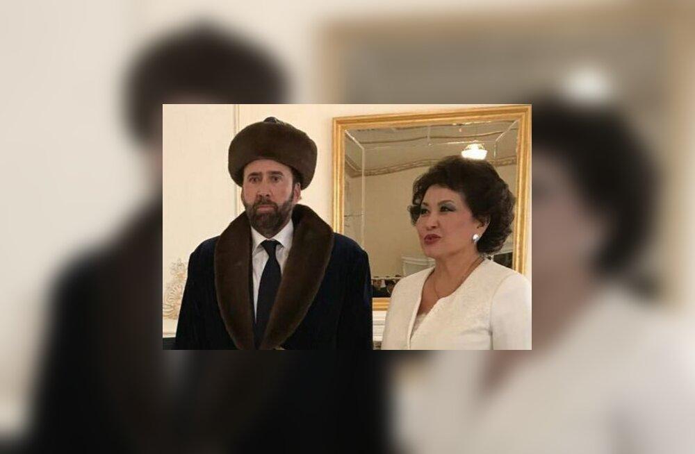 FOTO | Ägedam kui Borat? Nicolas Cage rabas Kasahstani elanikke oma karuse välimusega