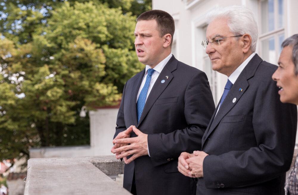 Ратас на встрече с президентом Италии: единство гарантировано в случае взаимной поддержки и выполнения обещаний