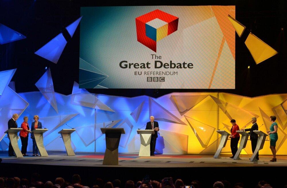 FOTOD: Briti referendumi eelsel teledebatil süüdistati EL-ist lahkumise pooldajaid valetamises ja vihkamises