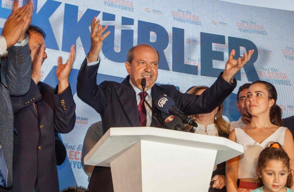 Tunnustamata Põhja-Küprose presidendivalimised võitis Türgi president Erdoğani soosik ja saare lõhestatuse pooldaja