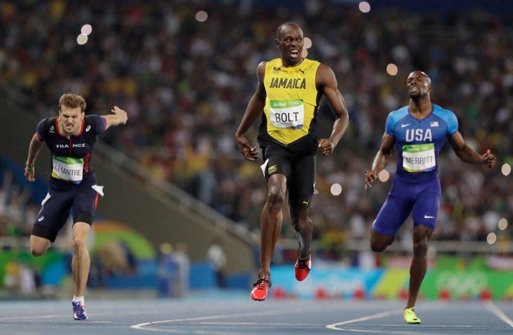FOTOD: Usain Bolt võitis Rios karjääri kaheksanda olümpiakulla, pronks Christophe Lemaitre'ile!