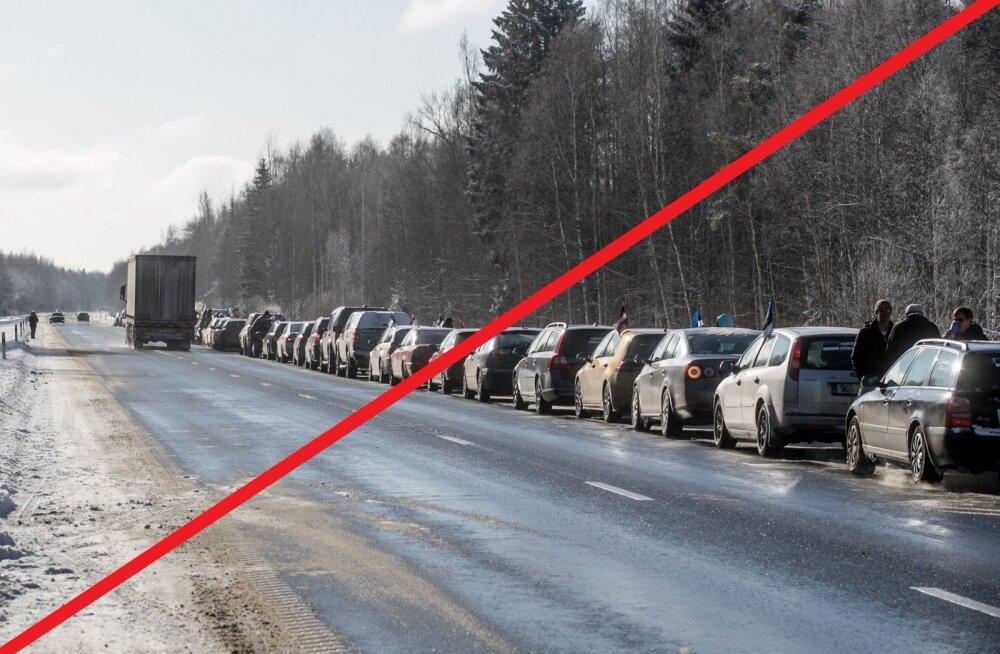 AMETLIK: Poola piiril olevatele eestlastele lubatud Balti kolonn jääb ära
