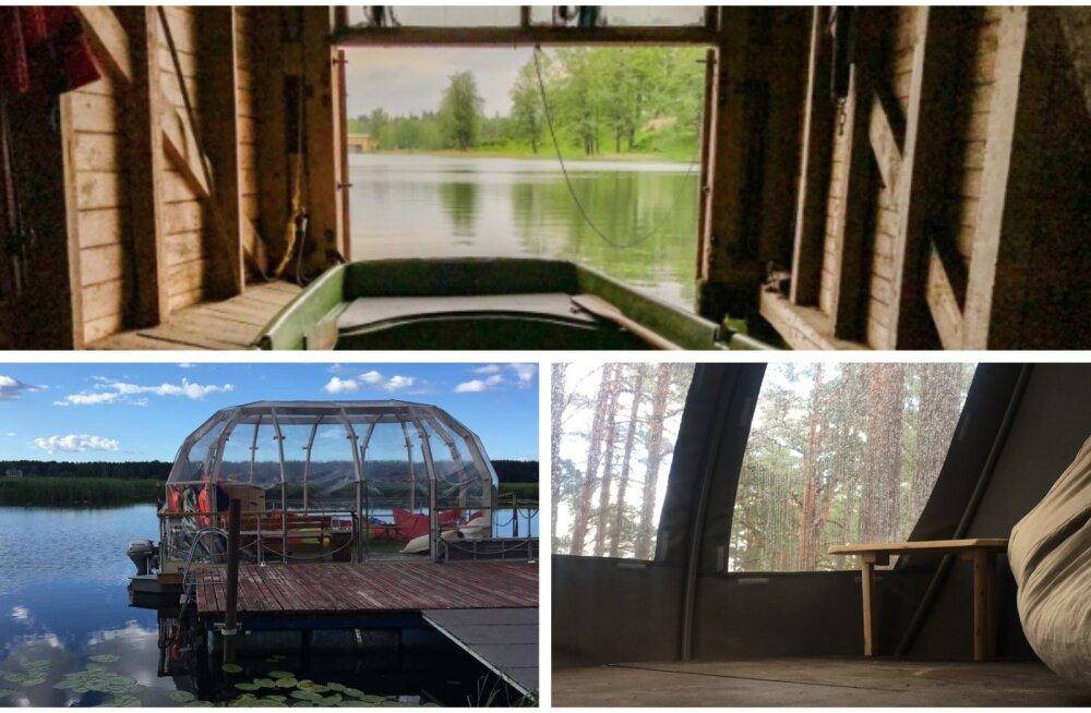 ФОТО | Дом на дереве, шатер, бочка и лодочный гараж. Пять необычных мест ночлега в Латвии