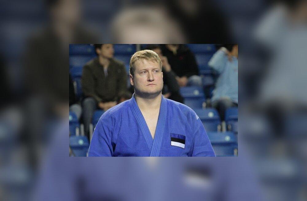 judoka Padar võistlemas Eesti koondise ridades