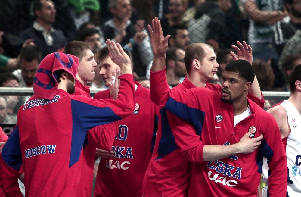 Moskva CSKA alistas tunamulluse Euroliiga meistri 31 punktiga