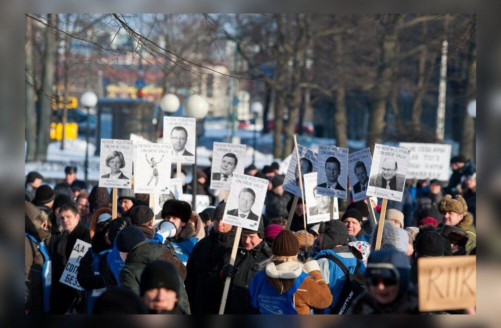 РЕШЕНО: Нарвские профсоюзы будут требовать досрочных парламентских выборов
