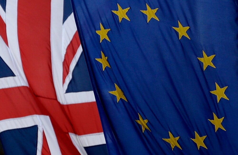 Ühendkuningriigi ja Euroopa Liidu lipud