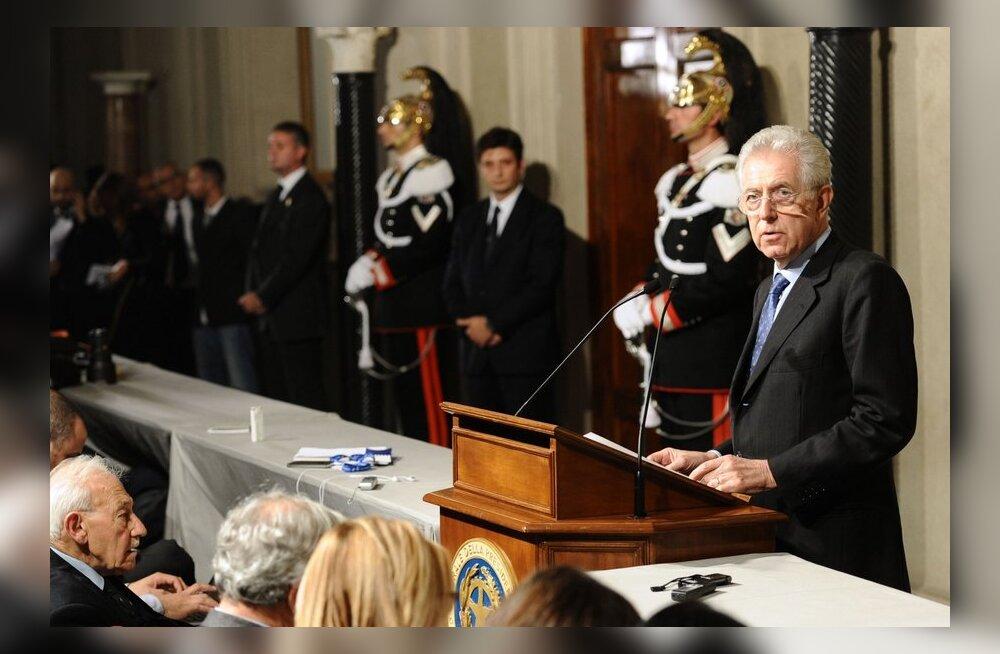 Itaalia president tegi Montile ettepaneku moodustada uus valitsus