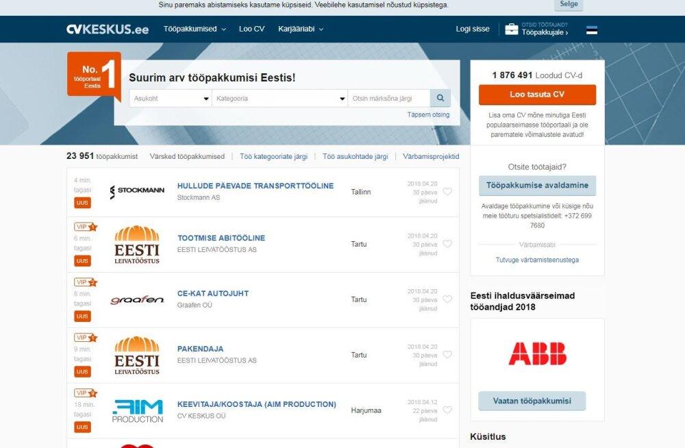 Segadus   Kas Eesti tuntuim tööotsinguportaal tõstab järsult hindu või mitte?