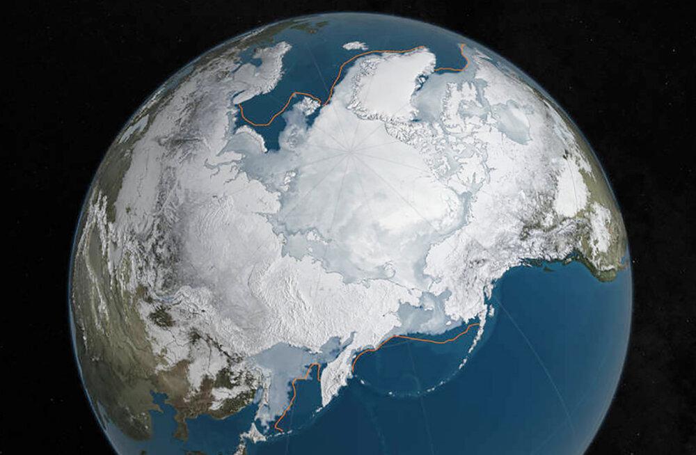 NASA foto: Arktika jääkilp jääb järjest pisemaks