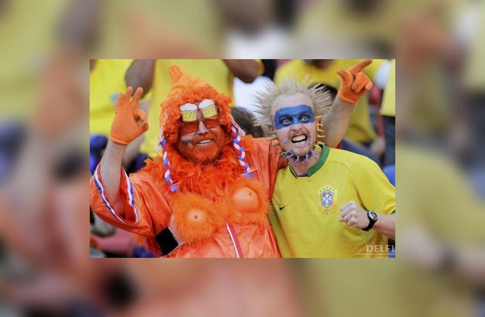 Hollandi ja Brasiilia poolehoidjad, jalgpalli MM