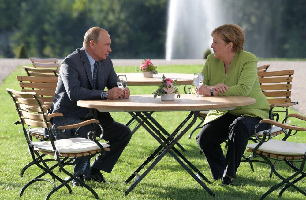 Merkeli ja Putini kohtumisel kokkuleppeid ei leitud, üksmeel on vaid Nord Stream 2 küsimuses