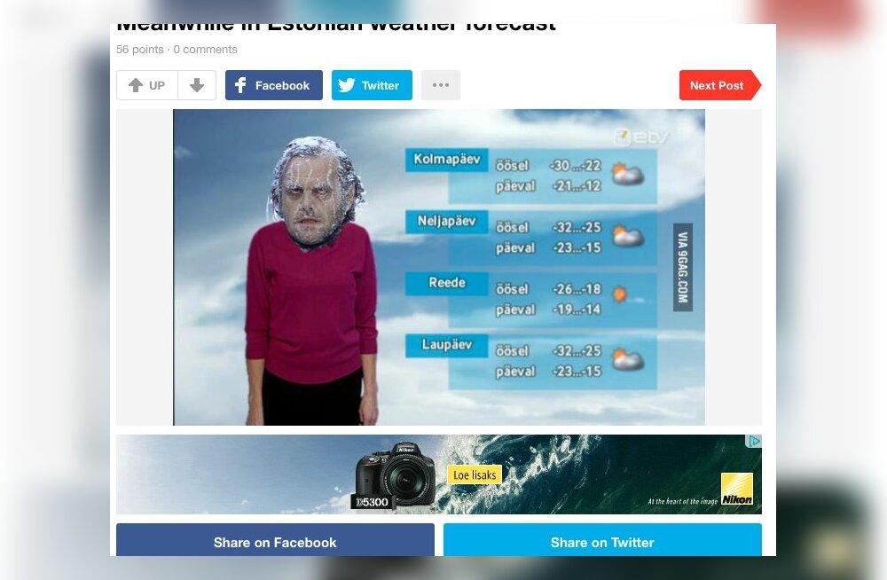 FOTO: Vaimukas või ei? Sotsiaalmeedia leheküljel 9GAG tehakse nalja eestlaste ja meie talve üle