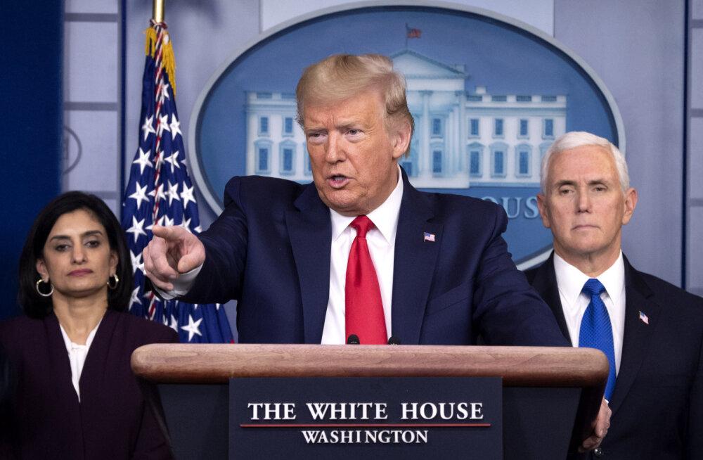 Trump kuulutas end sõjaaja presidendiks ja lubas totaalset võitu viiruse üle