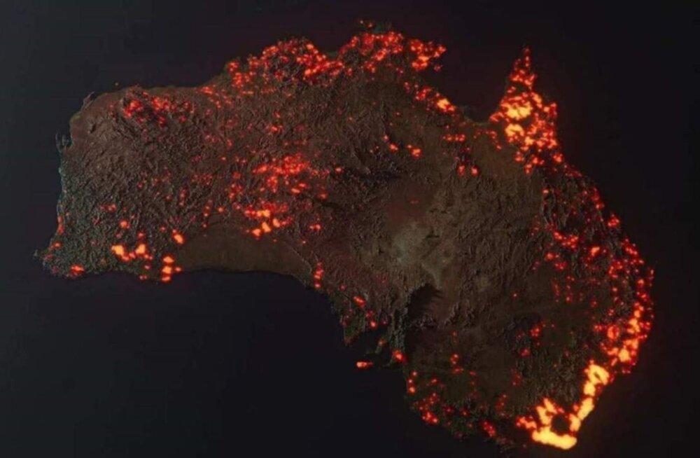 3D-визуализация пожаров в Австралии: масштабы катастрофы поражают