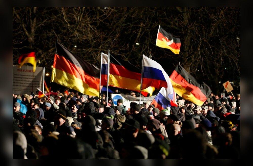FOTOD ja VIDEO: Saksamaa linnades avaldasid meelt islamiseerimisvastase liikumise pooldajad ja vastased