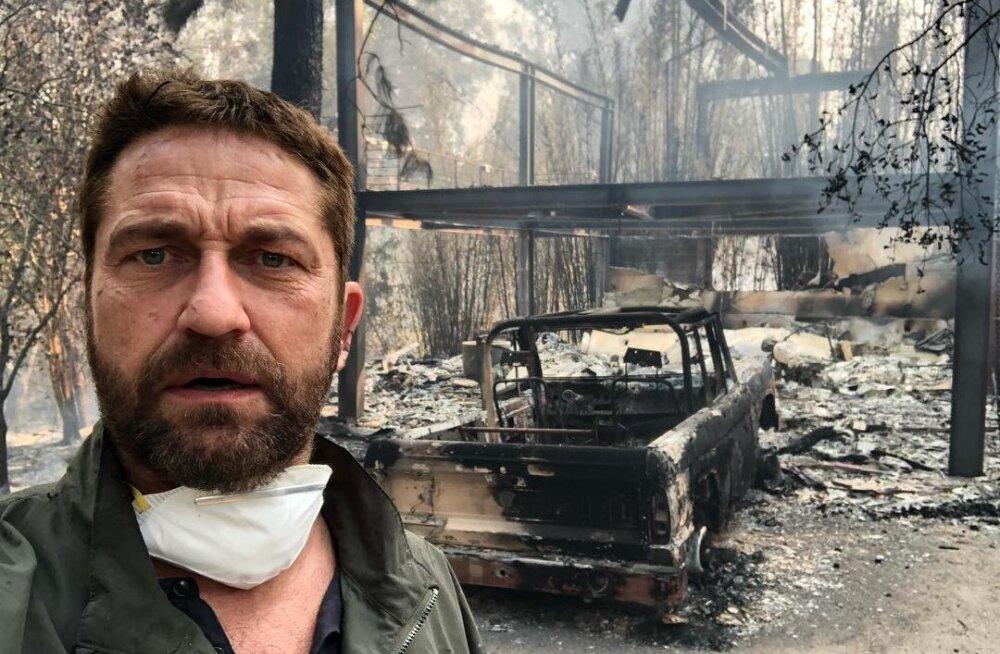 FOTO | Kurvad hetked: Hollywoodi staarid naasevad maha põlenud kodudesse