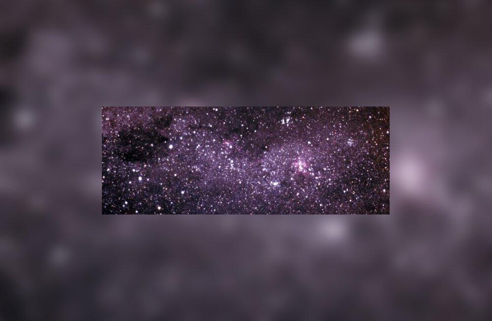 Väike tume galaktika põrkub Linnuteega