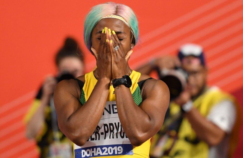 Jamaikalanna Shelly-Ann Fraser-Pryce on nüüd neljakordne 100 m jooksu maailmameister.