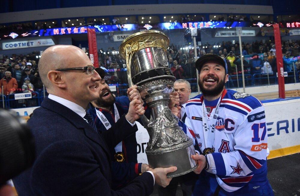 Peterburi SKA kapten Ilja Kovaltšuk saab kohe enda kätte Gagarini karika.