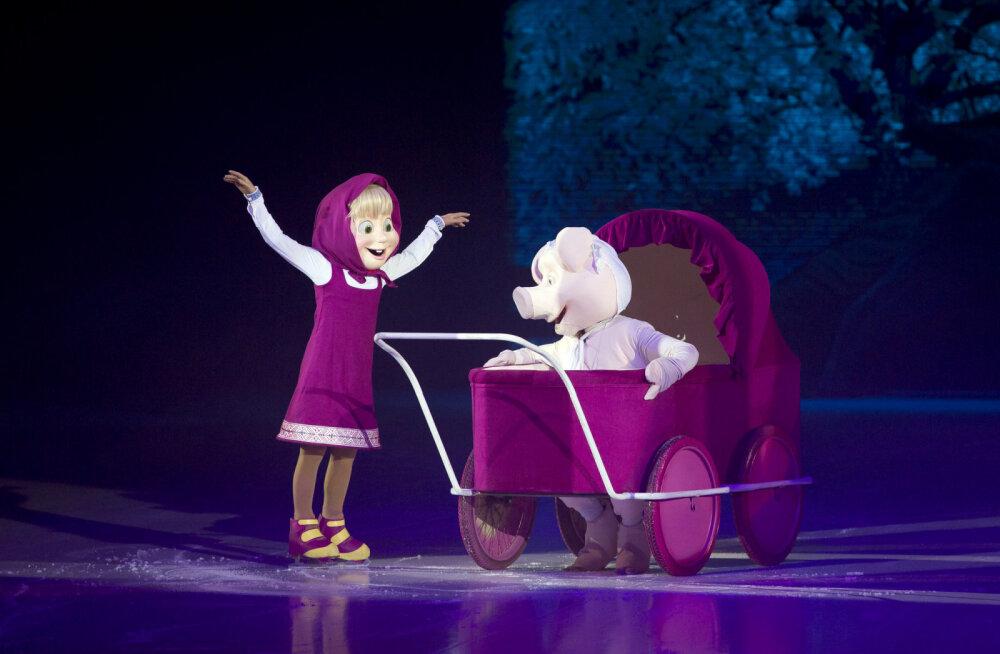 Võimas jää<em>show</em> Saku Suurhallis: Maailmakuulsale Mašale annab oma hääle 10-aastane Loviise Võigemast