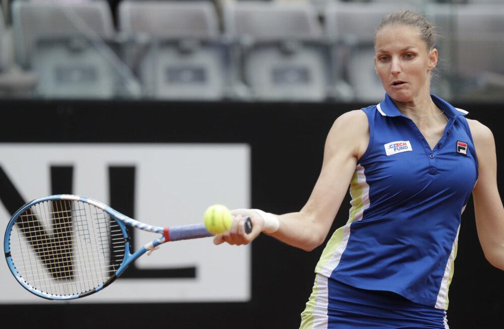 Pliškova lõpetas Kontaveidi alistanud Sakkari teekonna Rooma turniiri poolfinaalis