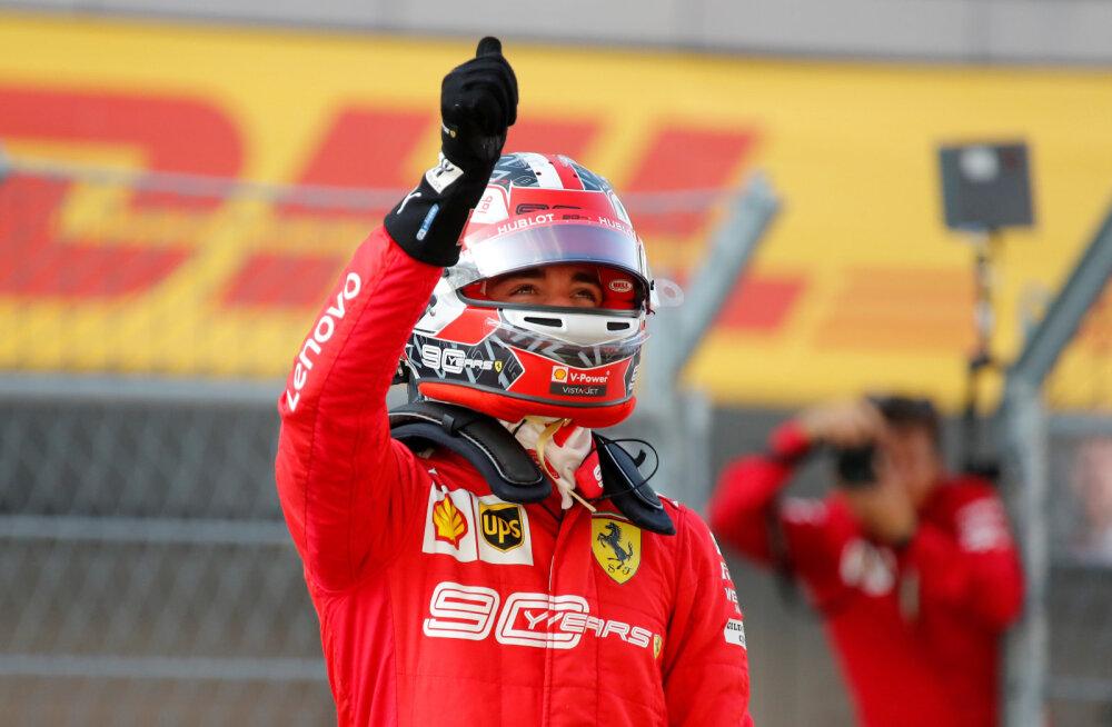 DELFI SOTŠIS | Kvalifikatsioonis ulmelise ringi kokku pannud Leclerc kordas Schumacheri saavutust