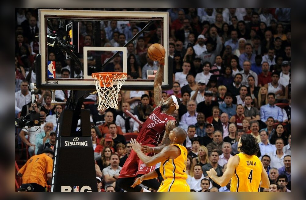LeBron James, Miami Heat, Indiana Pacers