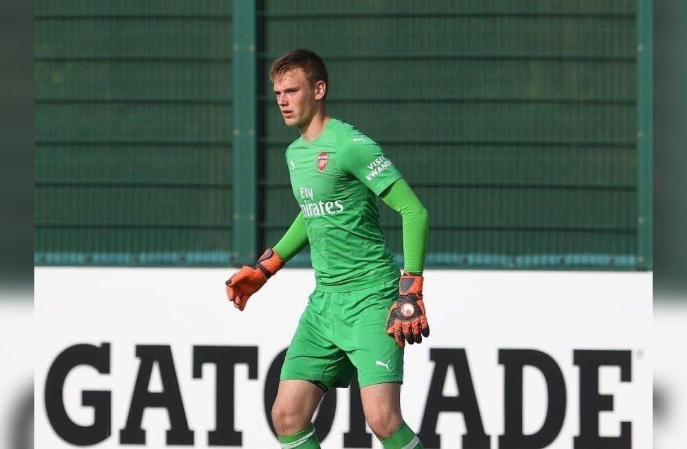Valus tagasilöök: Arsenalis mängiv noor Eesti väravavaht vigastas rannet ja käis operatsioonil