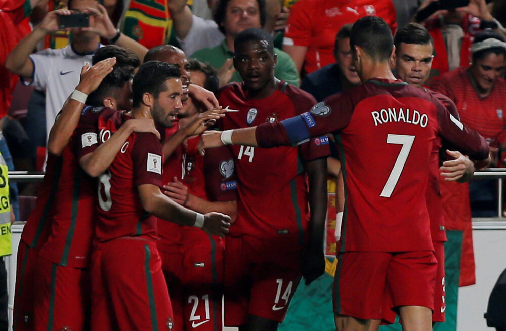 Cristiano Ronaldo ja Portugal  juubeldavad