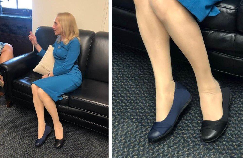 Uus trend või räige moeaps? Tipp-poliitik kandis tähtsatel kohtumistel kaht eri värvi kinga