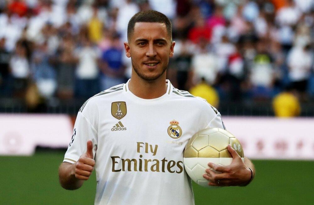 Eden Hazard tõmbas selga Madridi Reali valge särgi.