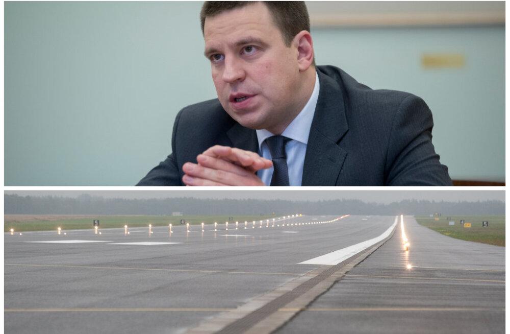Jüri Ratase töövisiidilt koju lennutanud rendilennuk maandus Tallinna lennujaama asemel hoopis Ämari lennuväebaasis