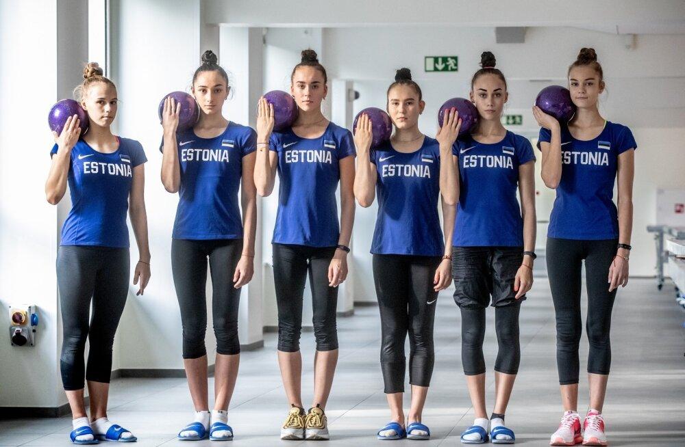 Eesti iluvõimlemiskoondise treening