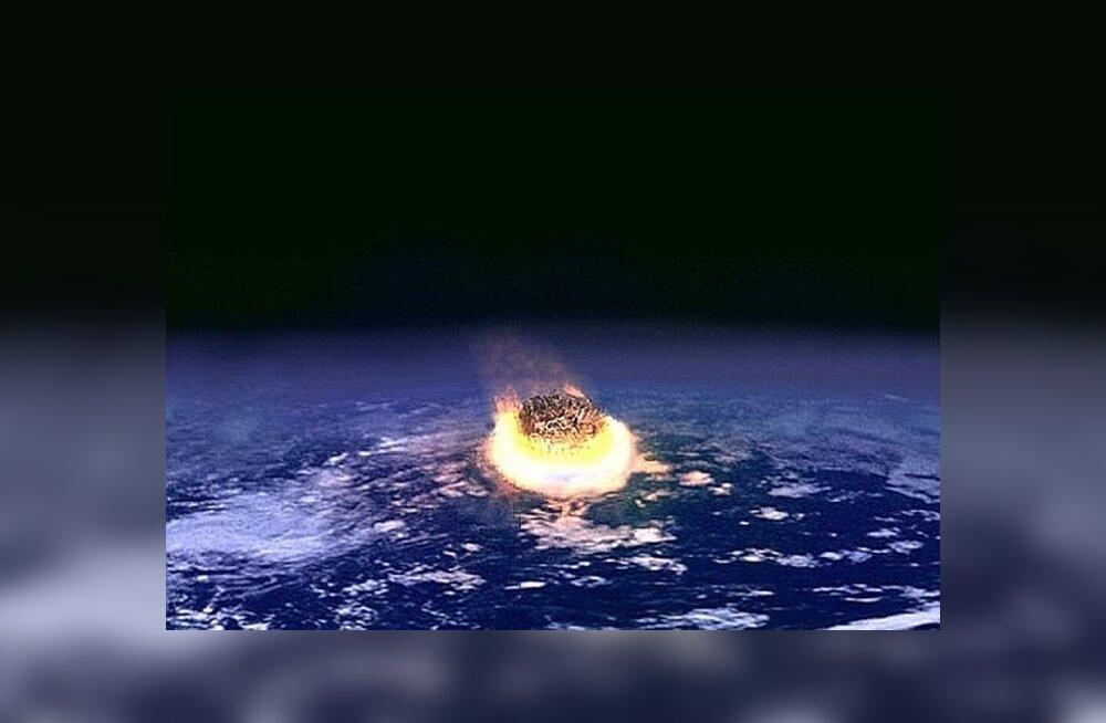 Asteroidi kokkupõrge Maaga. Foto: NASA