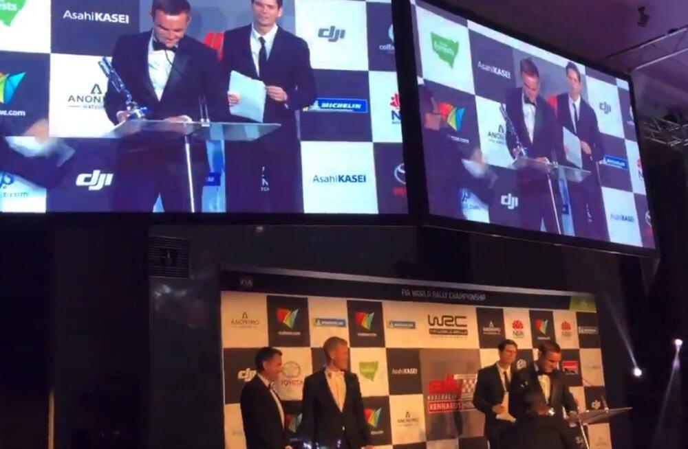 VIDEO   Martin Järveoja pidas WRC auhinnagalal humoorika tänukõne