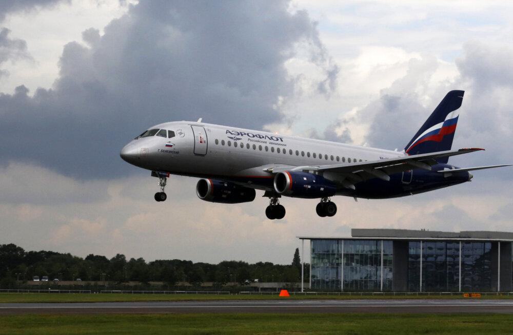 Moskvast Samarasse lendama pidanud Suhhoi Superjet 100 naasis lennuväljale