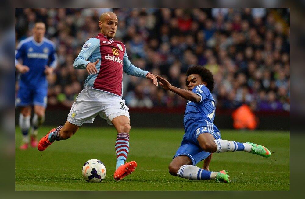 Willian (Chelsea) mängus Aston Villaga