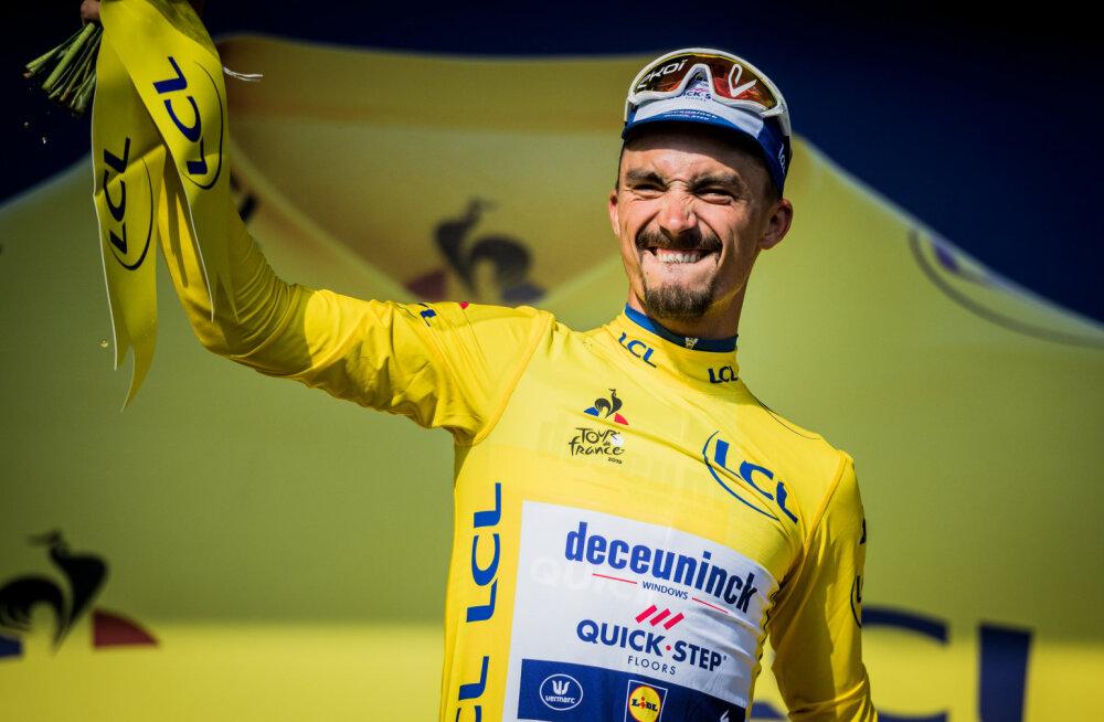 Konkurendid süüdistavad Tour de France'i liidriks tõusnud Alaphilippe'i pettuses