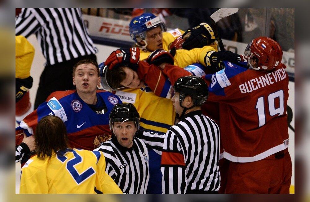 Rootsi-Venemaa kohtumine jäähoki U20 MM-il