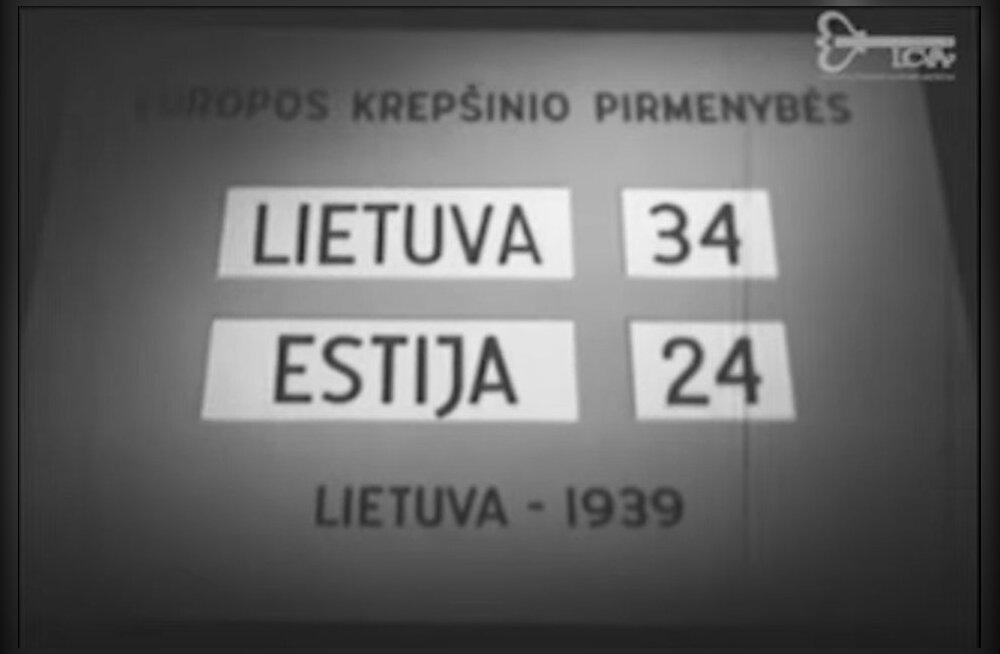 RETROVIDEO | Vaata, millist korvpalli 1939. aastal mängiti. Kas Eesti praegune külasats tulnuks toona Euroopa meistriks?