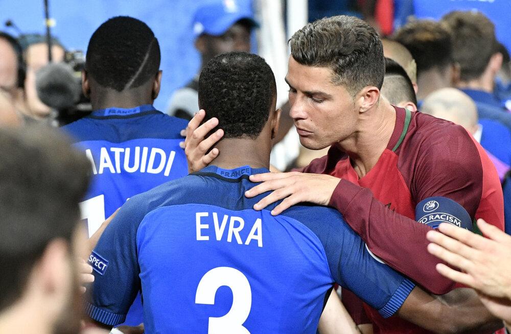 Evra ja Ronaldo enne Prantsusmaa ja Portugali kohtumist