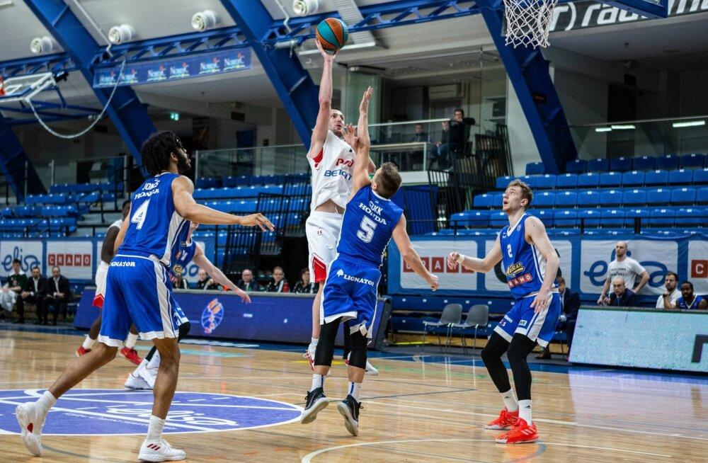 Kalev Cramo viimane mäng tühjade tribüünide ees Lokomotiv-Kubaniga
