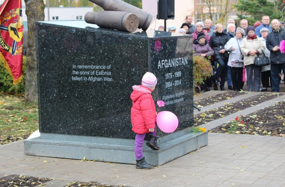 Afganistani sõja monument, Narva