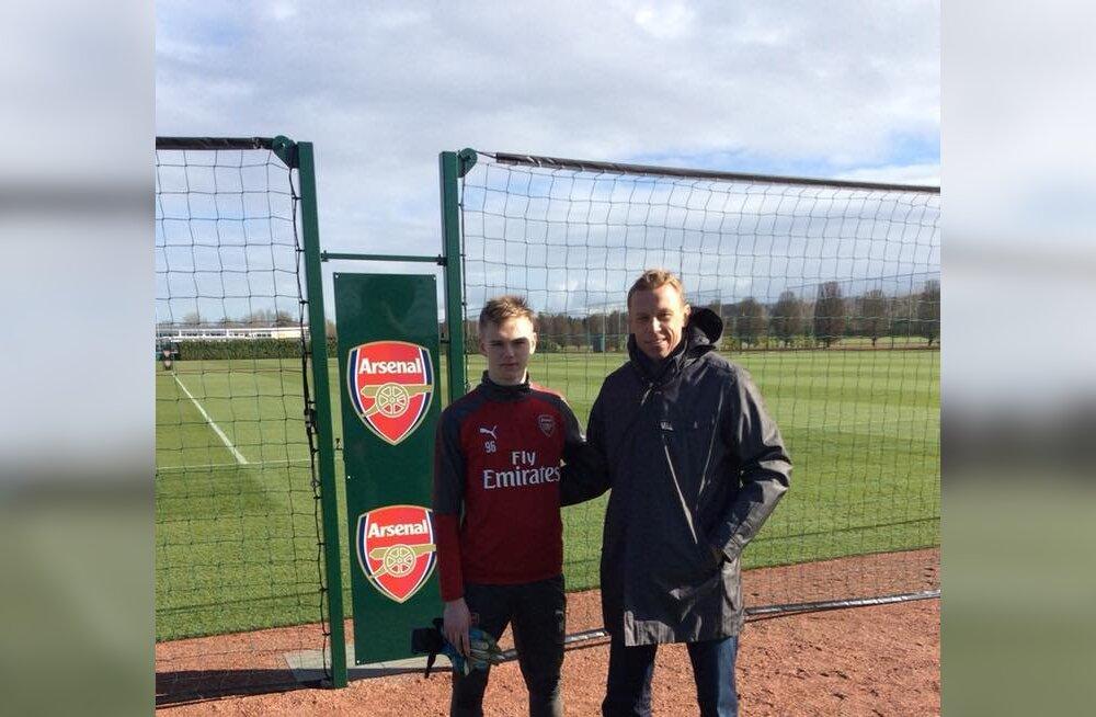 15-aastane Eesti väravavaht viibib Arsenalis testimisel